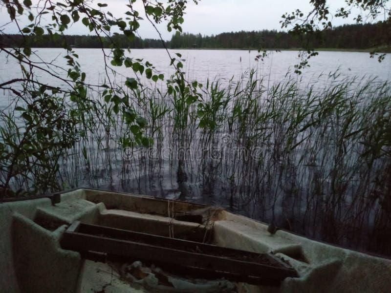 Lac finlandais photo libre de droits
