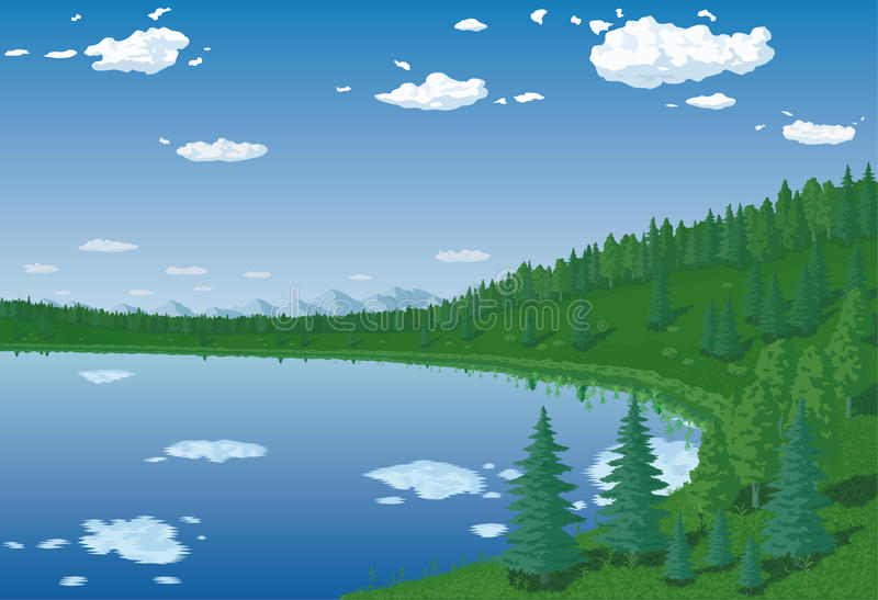 Lac forest