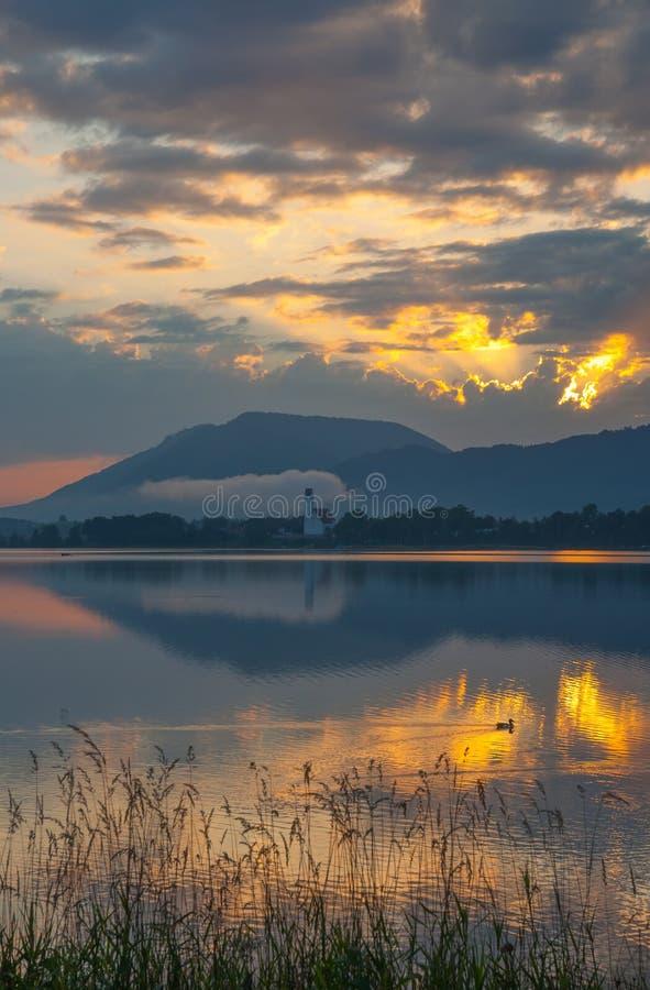 Lac Forggensee, Bavière, Allemagne photographie stock libre de droits