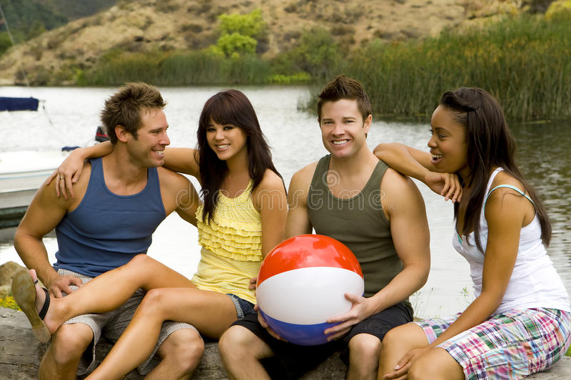 Lac friends image stock