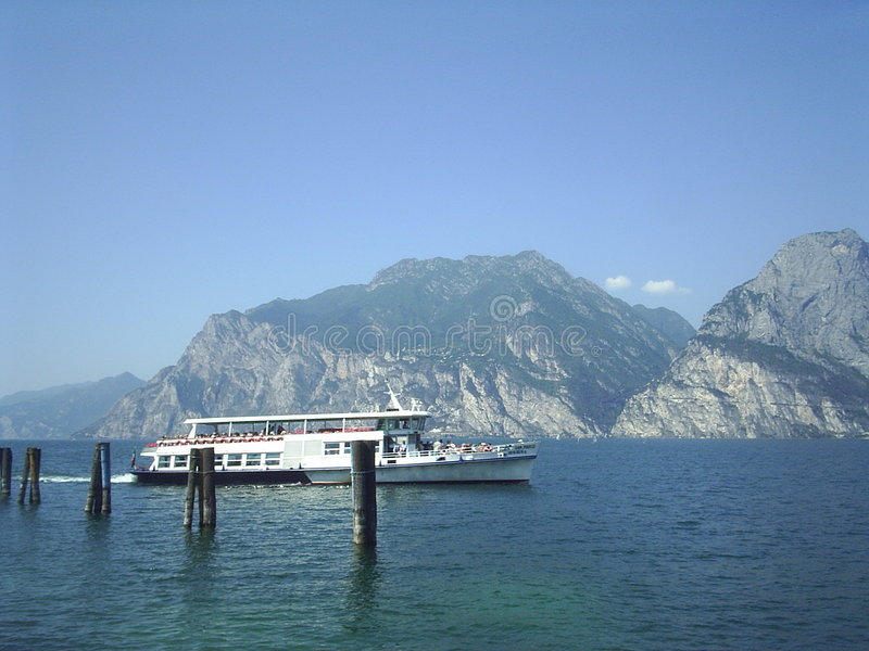 Lac Garda Italie ferryboat photographie stock libre de droits
