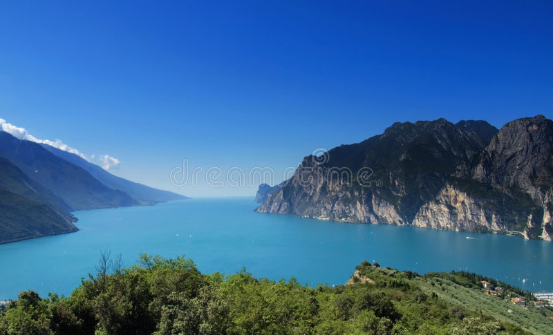 Lac Garda panoramique photographie stock