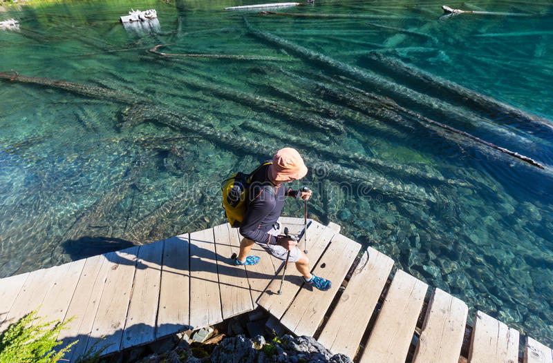 Download Lac Garibaldi image stock. Image du randonneur, landmark - 76076407
