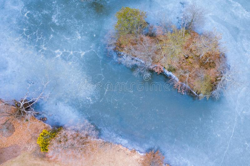 Lac glacial photographie stock