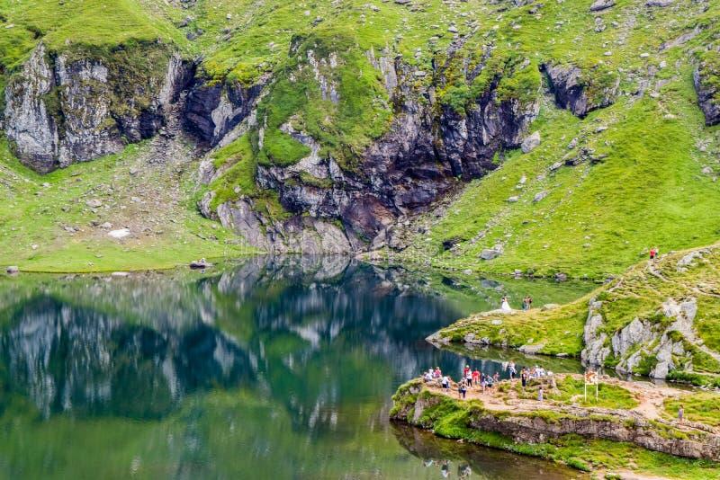 Lac glacier de Balea, Roumanie image stock