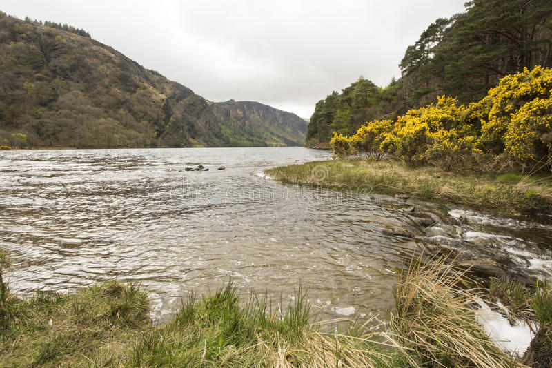 Lac Glendalough, comté Wicklow, Irlande images libres de droits
