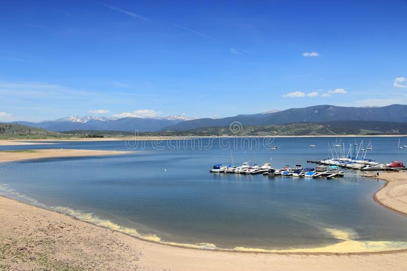 Lac Granby, le Colorado image stock