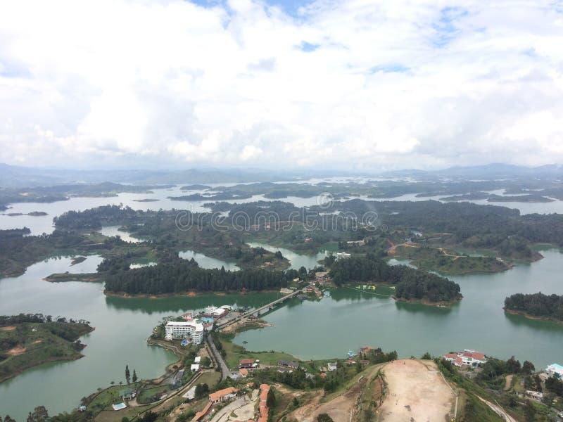 Lac Guatape image libre de droits