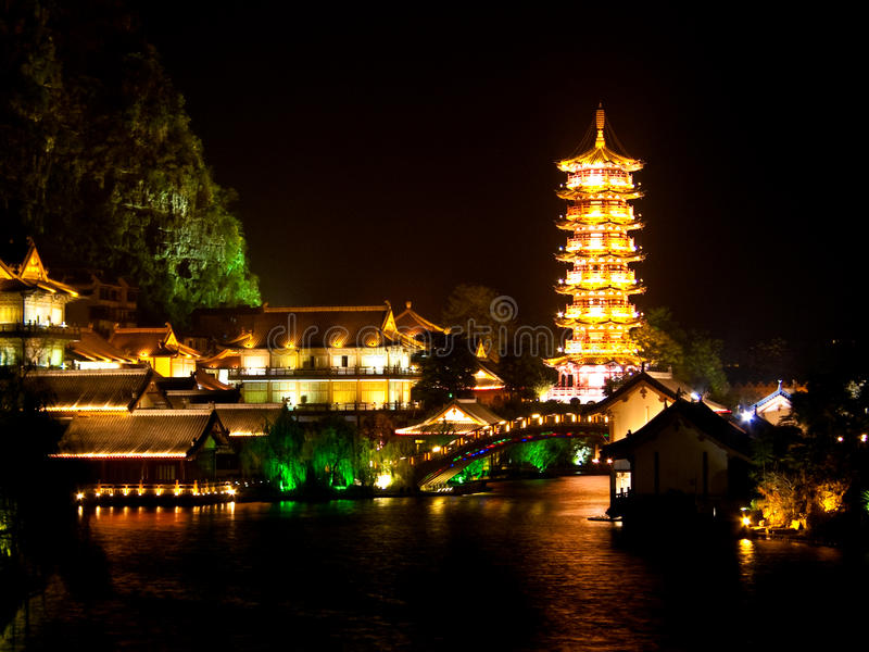 Lac, guilin photographie stock