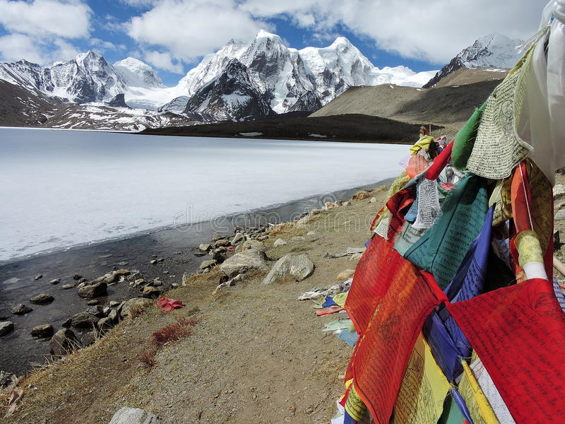 Lac Gurudongmar, 17800ft images libres de droits