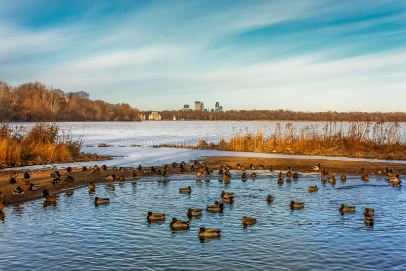 Lac Harriet à Minneapolis Minnesota image stock