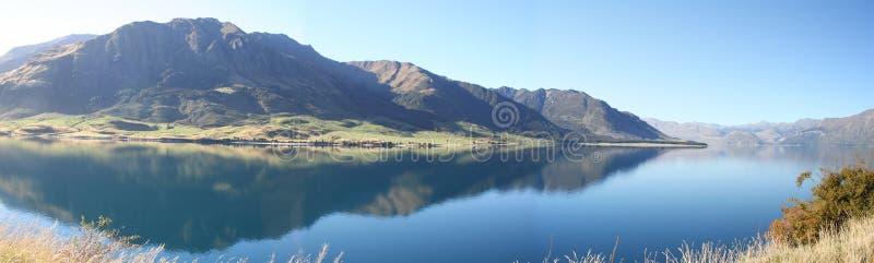 Lac Hawea, Nouvelle Zélande photo stock