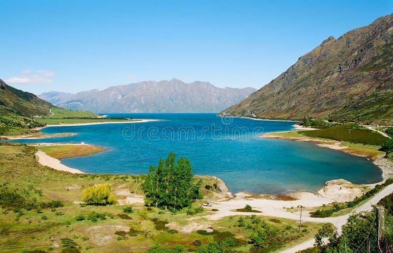 Lac Hawea, Nouvelle Zélande image stock