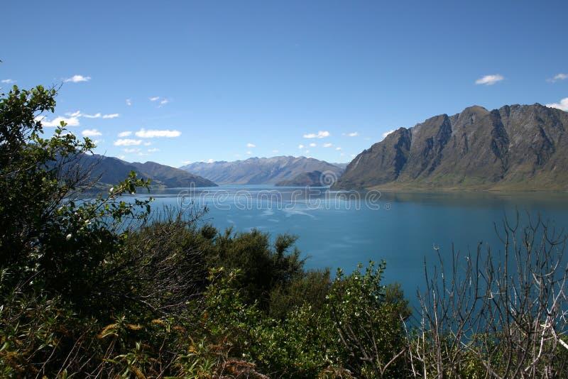 Lac Hawea Nouvelle-Zélande images libres de droits