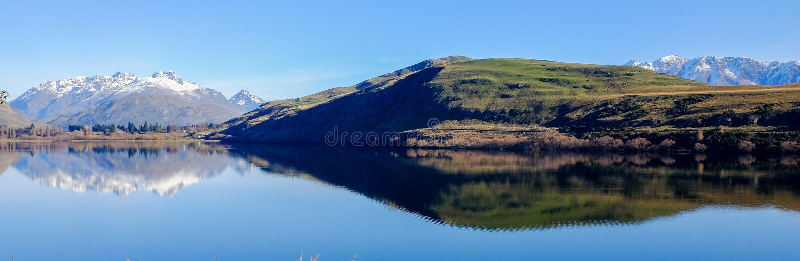 Lac Hayes, Nouvelle Zélande image libre de droits