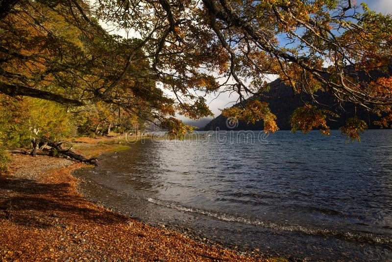 Lac Hermoso, Neuquen, Argentine photos stock