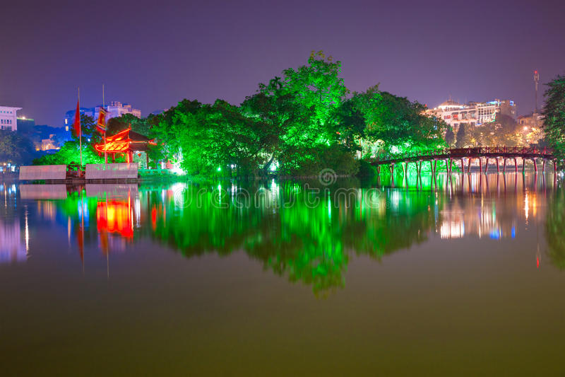 Lac Hoan Kiem, ha de NOI, Vietnam. photo libre de droits