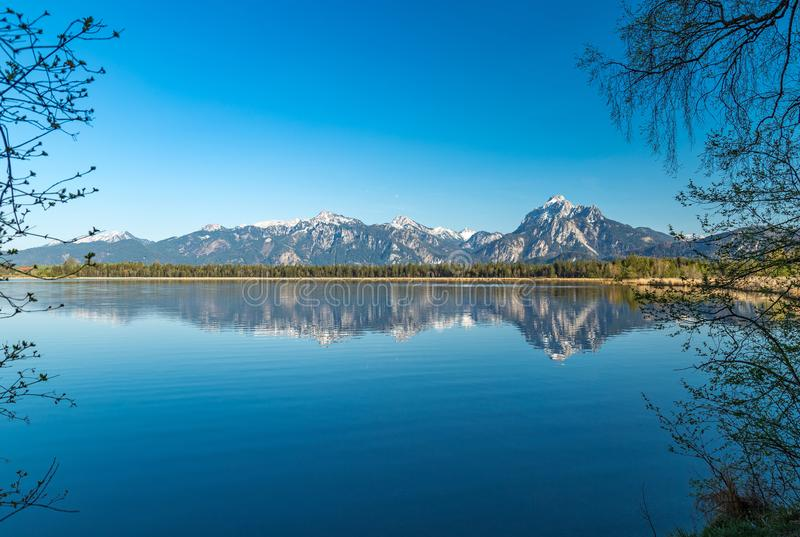 Lac Hopfensee image libre de droits