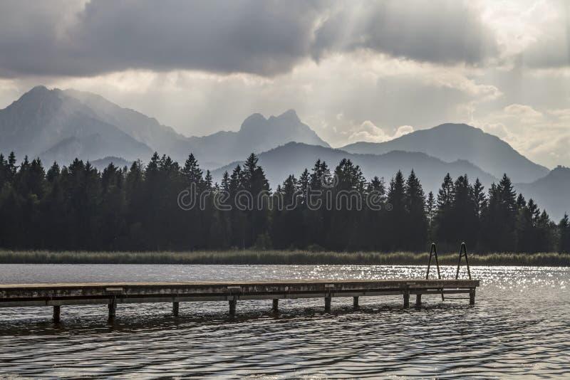 Lac Hopfensee photo stock
