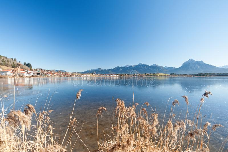 Lac Hopfensee, Allemagne photographie stock