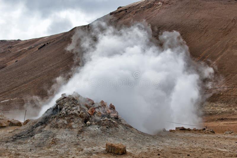 Lac Hot Springs Myvatn en Islande photos libres de droits