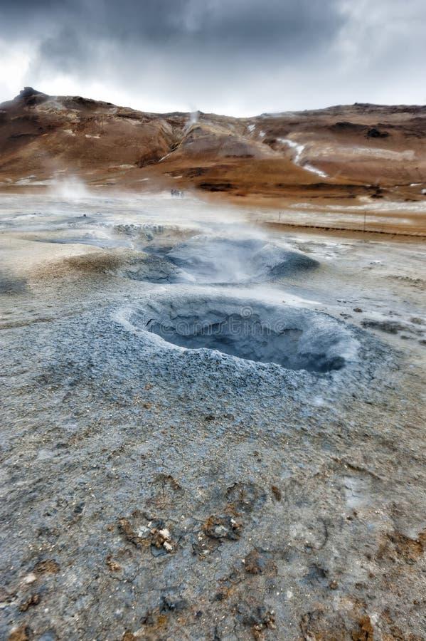 Lac Hot Springs Myvatn en Islande photographie stock