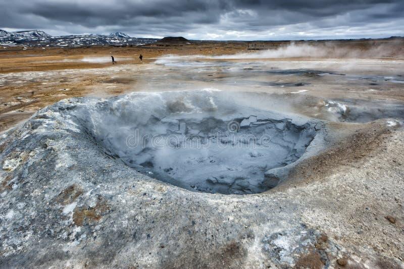 Lac Hot Springs Myvatn en Islande photographie stock libre de droits