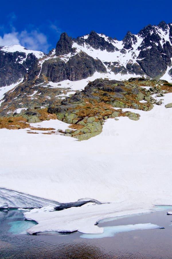 Lac iceberg dans les montagnes photos libres de droits