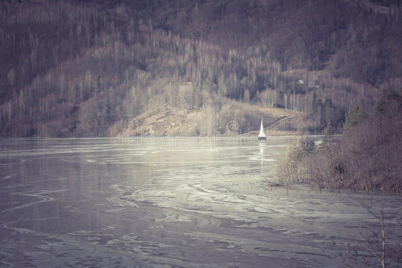 Lac industriel de déchets miniers photo libre de droits