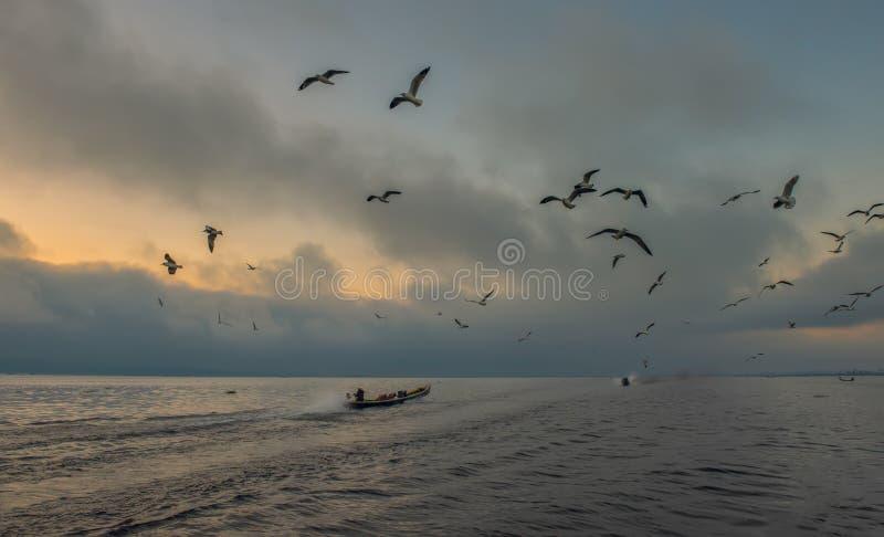 Lac Inle dans Myanmar image stock