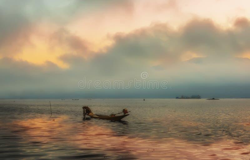 Lac Inle dans Myanmar image libre de droits