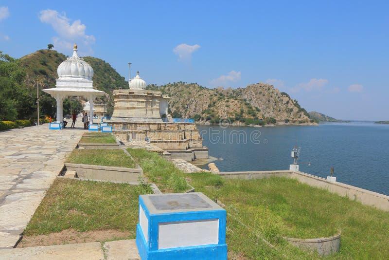 Lac Jaisamand, Ràjasthàn, Inde image stock