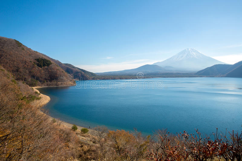 Lac Japon fuji Motosu de montagne photo libre de droits