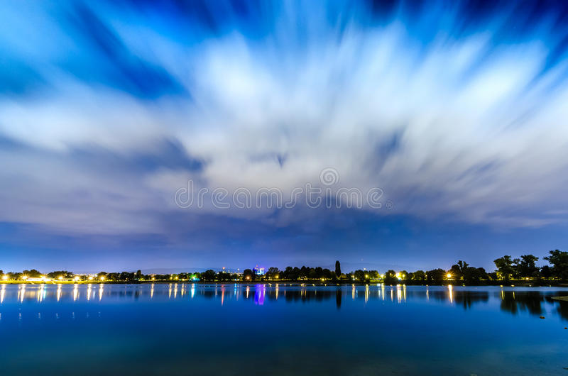 Lac Jarun - Zagreb Croatia photographie stock