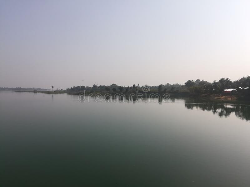Lac Kaptai photographie stock