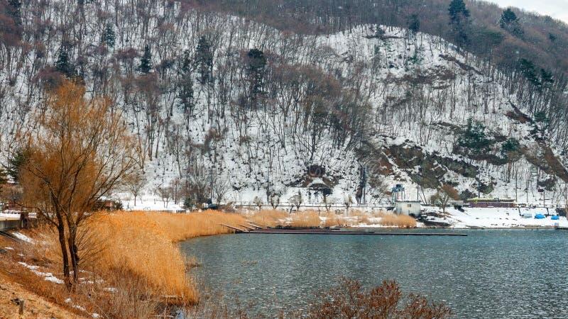 Lac Kawaguchiko images stock