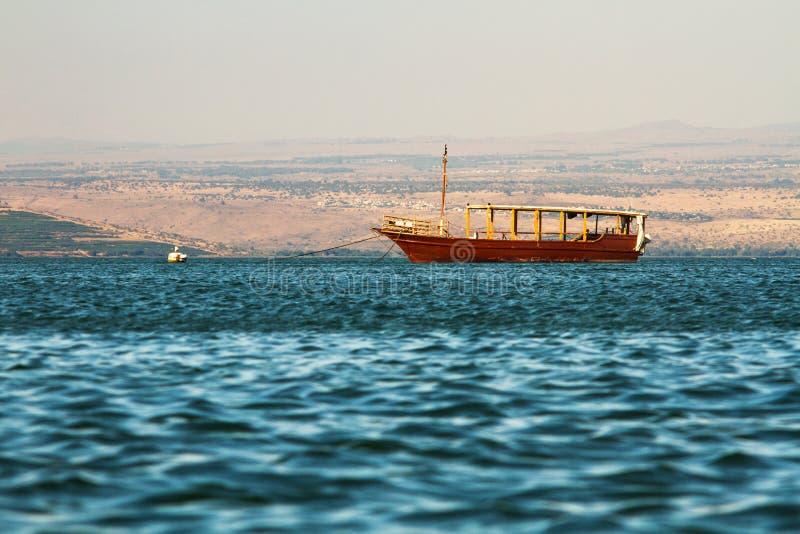 Lac Kineret, Israël image libre de droits