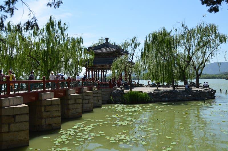 Lac kunming vu du palais d'été Chine image stock