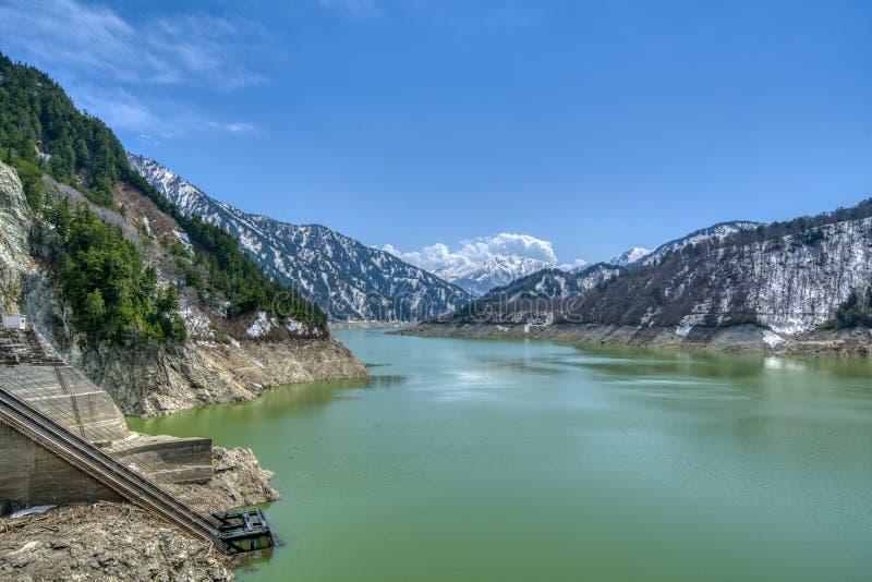 Lac Kurobe, préfecture de Tayoma, Japon images libres de droits