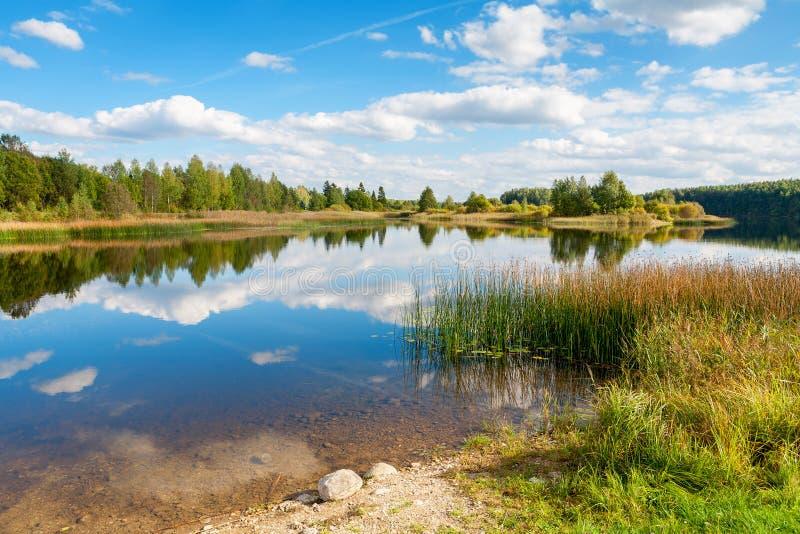 Lac l'Estonie photographie stock