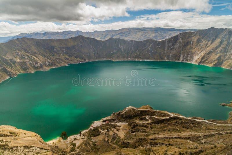 Lac Laguna Quilotoa crater photographie stock libre de droits