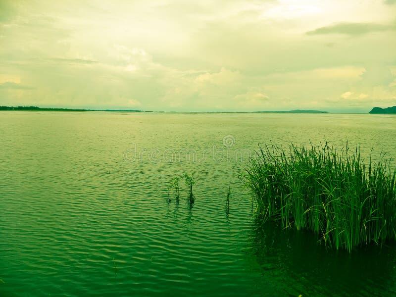 Lac le soir photo stock
