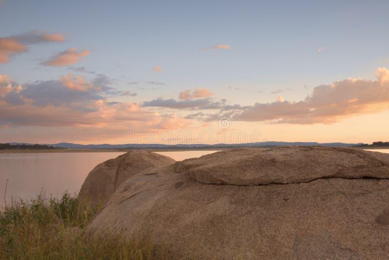Lac Leslie au Queensland image libre de droits