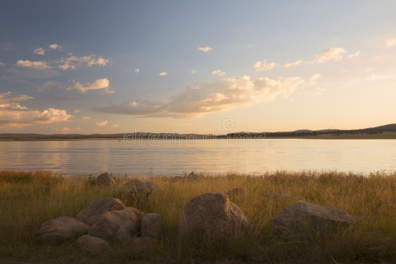 Lac Leslie au Queensland images stock