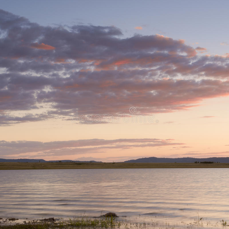 Lac Leslie au Queensland image stock