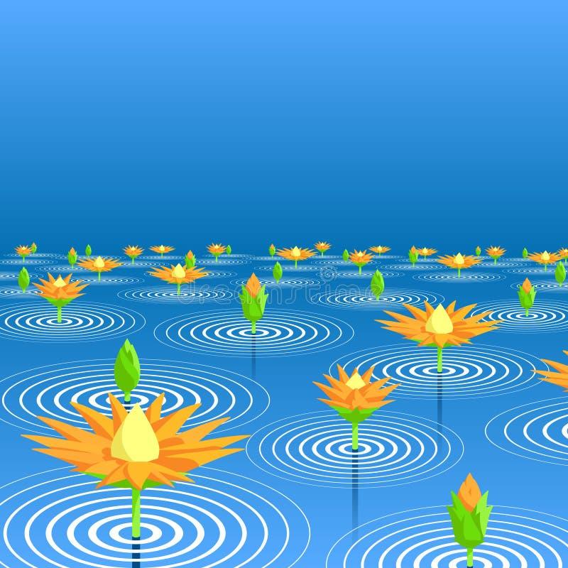 Lac lotus illustration de vecteur