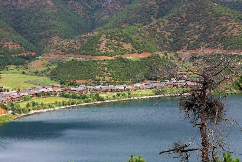 Lac Lugu, Lijiang, Yunnan, Chine photos libres de droits