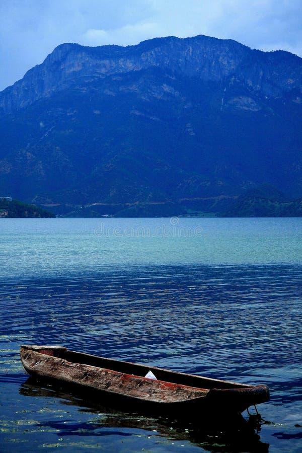 Lac Lugu, Lijiang, Yunnan, Chine photographie stock