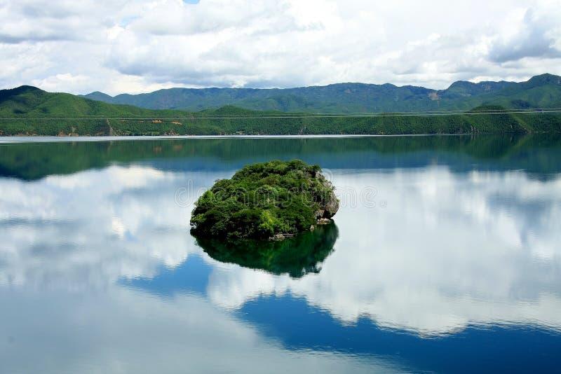 Lac Lugu, Lijiang, Yunnan, Chine images stock