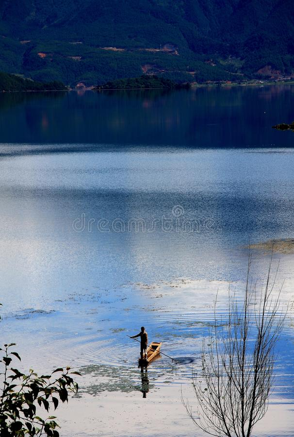 Lac Lugu, Lijiang, Yunnan, Chine photos stock